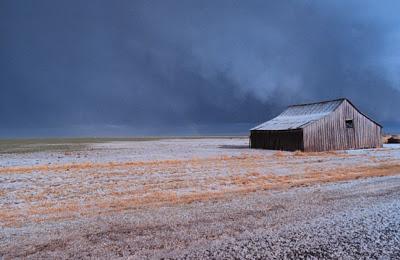 barn with hail
