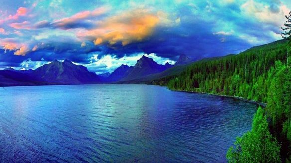 lakes-silver-lake-usa-places-photography-love-seasons-lakes-attractions-dreams-sky-colors-creative-pre-glacier-national-park-stunning-mountains-nature-trees-landscapes-cool-full-hd-1920x